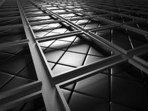 Fondo d'argento scuro astratto con la riflessione brillante Fotografia Stock
