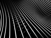 Fondo d'argento scuro astratto di industriale della banda Fotografia Stock