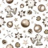 Fondo d'argento senza cuciture di Natale. Immagine Stock Libera da Diritti