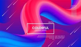 Fondo d'avanguardia di colore 3d Forma del liquido di Wave illustrazione vettoriale