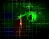 Fondo d'avanguardia di tecnologia astratta con il codice binario Immagine Stock Libera da Diritti