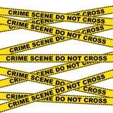Fondo d'avvertimento della scena del crimine illustrazione vettoriale