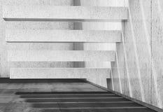 fondo 3d con le scale concrete bianche sulla parete illustrazione di stock