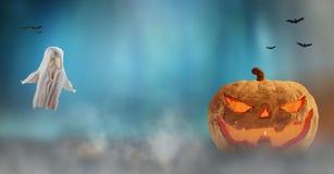 Fondo 3d-illustration della zucca di Halloween illustrazione vettoriale