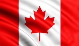 Fondo d'ondeggiamento della bandiera del Canada royalty illustrazione gratis