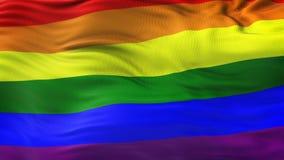 Fondo d'ondeggiamento della bandiera dell'arcobaleno di LGBT Fotografia Stock Libera da Diritti