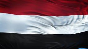 Fondo d'ondeggiamento realistico della bandiera dell'YEMEN Fotografia Stock Libera da Diritti