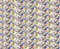 Fondo da cento banconote del dollaro Fotografia Stock
