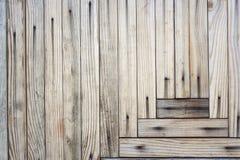 Fondo dai bordi di legno nel modello geometrico Fotografia Stock Libera da Diritti