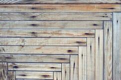 Fondo dai bordi di legno nel modello geometrico Immagini Stock Libere da Diritti