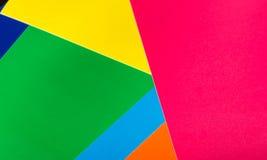 Fondo dai fogli di carta colorata Fotografie Stock