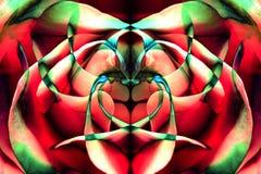 Fondo dalla tavolozza di colore dei petali rosa e delle riflessioni immagine stock