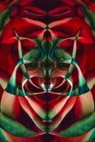 Fondo dalla tavolozza di colore dei petali rosa e delle riflessioni immagini stock