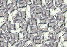 Fondo dalle banconote di 20 di sterlina, concetto finanziario Economia dei ricchi di successo di concetto Fotografia Stock