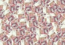 Fondo dalle banconote di 50 di sterlina, concetto finanziario Economia dei ricchi di successo di concetto Fotografia Stock Libera da Diritti