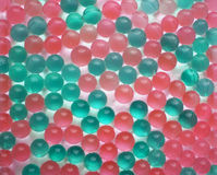 Fondo dalle palle verdi e rosa Fotografia Stock Libera da Diritti