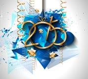 Fondo de 2015 Años Nuevos y de la feliz Navidad para sus aviadores stock de ilustración