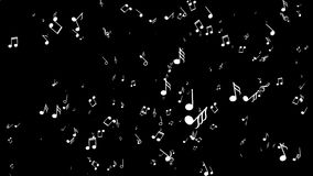Fondo de Aanimated con las notas musicales Fondo negro ilustración del vector
