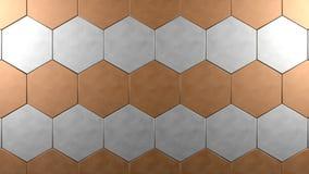Fondo de acero de cobre del hexágono Libre Illustration