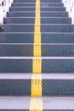 Fondo de acero de la textura de los pasos de las escaleras Imagen de archivo libre de regalías