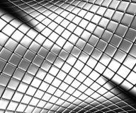 Fondo de acero de plata abstracto con la reflexión Fotos de archivo libres de regalías