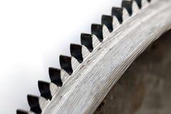 Fondo de acero del blanco del engranaje Imágenes de archivo libres de regalías