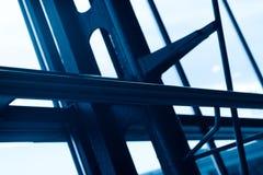 Fondo de acero del elemento de la construcción del aeropuerto azul Imagen de archivo