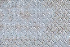 Fondo de acero del extracto de la textura de la placa del diamante del metal Fotos de archivo libres de regalías