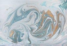 Fondo de acrílico abstracto de mármol Textura verde de las ilustraciones de la naturaleza que vetea Brillo de oro fotos de archivo