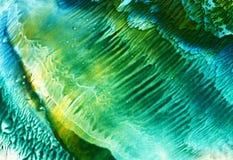 Fondo de acrílico verde claro y amarillo Fotos de archivo libres de regalías