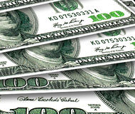 Fondo de algunos 100 dólares de los E.E.U.U. Imagen de archivo