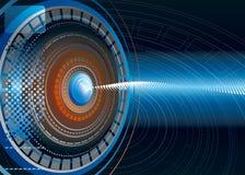Fondo de alta tecnología abstracto stock de ilustración