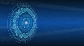 Fondo de alta tecnología abstracto azul de la perspectiva de la tecnología stock de ilustración