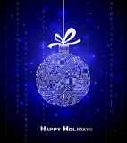 Fondo de alta tecnología de la Navidad Fotos de archivo libres de regalías
