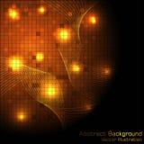 Fondo de alta tecnología del oro del vector Imagenes de archivo