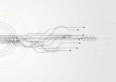 Fondo de alta tecnología gris de la placa de circuito