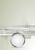 Fondo de alta tecnología gris del vector con metálico Imagen de archivo libre de regalías