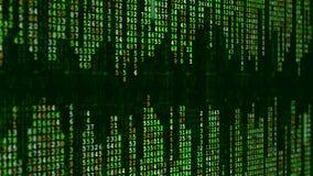 Fondo de alta tecnología verde Efecto binario digital abstracto de la matriz almacen de metraje de vídeo