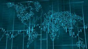Fondo de alta tecnolog?a azul fr?o - diagramas, gr?ficos y tablas comunes imagenes de archivo