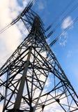 Fondo de alto voltaje del cielo azul de la torre Foto de archivo