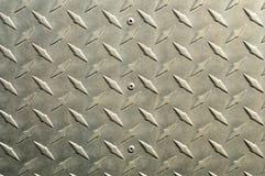 Fondo de aluminio brillante con la pieza diagonal del alivio Imagen de archivo
