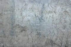 Fondo de aluminio de la placa, textura rasguñada del metal como papel pintado fotografía de archivo
