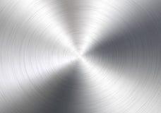 Fondo de aluminio del círculo Fotografía de archivo libre de regalías