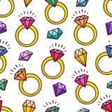 Fondo de anillos y de gemas Imagen de archivo libre de regalías