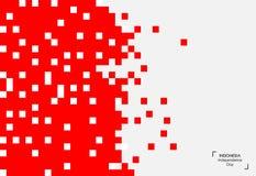 Fondo de 17 August Indonesia Independence Day Ejemplo del vector de las banderas Fotografía de archivo libre de regalías