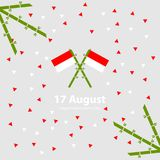 Fondo de 17 August Indonesia Independence Day Ejemplo del vector de las banderas Imagenes de archivo