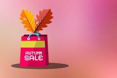 Fondo de Autumn Sale Vector Blurred Pink Fotos de archivo libres de regalías