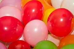 Fondo de baloons coloreados fotografía de archivo