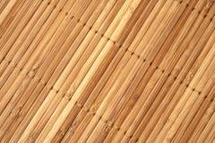 Fondo de bambú de la estera imagen de archivo