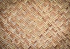 Fondo de bambú de la textura de la estera Fotos de archivo libres de regalías